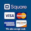 VISA, MasterCard, American Express, Discover, or Cash